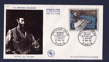 enveloppe 1er jour   tableau  madame Manet au canapé bleu     1962