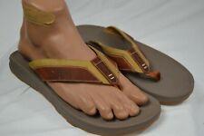 Chaco Mens Playa Pro Leather Flip Size 9US Tan MSRP$90 (CS19M-5)