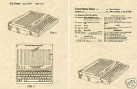 US PATENT for the APPLE IIC COMPUTER Art Print READY TO FRAME !! Jobs Gemmell 2C