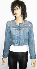 ARMANI Jeans INDIGO 009 Denim Womens Jacket Size EU 40 USA 4 UK 8 Made in ITALY