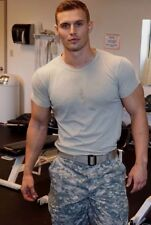 Handsome Male Military Hunk Tall Athletic Muscular Dude Masculine PHOTO 4X6 F38