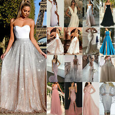 Womens Ball Gowns Dress Formal Wedding Cocktail Evening Party Bridesmaid Dresses