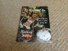Tis Hallowe'en 13 Cross Stitch Projects By Blackbird Designs