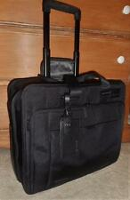 TUMI T-TECH BLACK NYLON WHEELED COMPUTER BRIEF CASE ROLLING BAG 58602D FREE SHIP