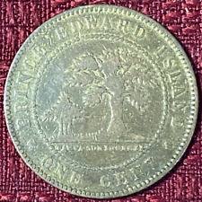 1871 ~ PRINCE EDWARD ISLAND ~ 1 CENT ~ 150 YEARS ~ Only Mintage ~ VG8 Condition