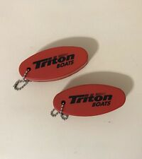Triton Boats Red Key Floater keychain saver lot of 2
