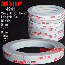 3M VHB #4941 Double-sided Acrylic Foam Adhesive Tape automotive 3 Meters Long