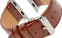 Gilden for Apple 38mm/40mm 42mm/44mm Gator-Grain Calfskin Leather Watch Strap...