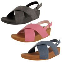 Fitflop Womens Lulu Cross Back Strap Sandal Shoes