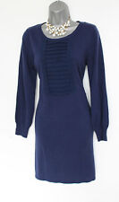 MONSOON Navy Wool Blend Long Sleeves Comfortable Casual Winter Tunic Dress  M