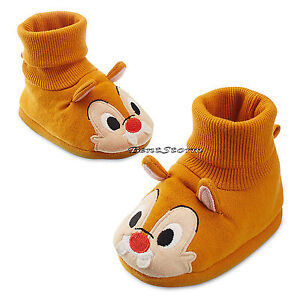 Chip N Dale Red Nose Chipmunk COSTUME BABY Dress Up Shoes SLIPPERS Disney Store