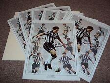 16x12 FOTO Montage firmato Peter Beardsley Newcastle United iconico avanti COA