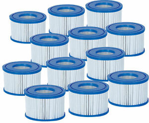 12 Pack Bestway Coleman Type VI Spa Filter Cartridge for Lay-Z-Spa 58323