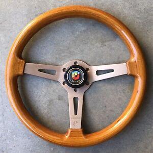 Genuine Abarth Woodgrain Steering Wheel 350mm