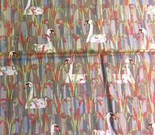 RPD102 Swans Art Deco Glimmer Field Study Baerlin Cotton Fabric Quilt Fabric