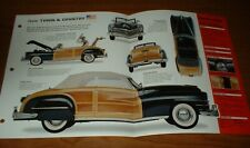 ★★1947 CHRYSLER TOWN & COUNTRY ORIGINAL IMP BROCHURE SPECS INFO WOODY 47★★