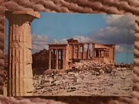 Athens - The Erechtheion Seen From the Propylaea - Stamped Postcard