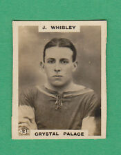 GODFREY PHILLIPS LTD.- PINNACE FOOTBALL CARD - WHIBLEY OF CRYSTAL PALACE - 1921