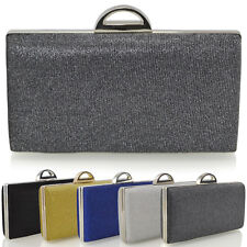 49fed7bdeac Womens Clutch Bag Glitter Sparkly Ladies Prom Party Purse Bridal Evening  Handbag