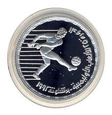 ÄGYPTEN - 5 Pfund 1992 - OLYMPIA Barcelona - Fussball - SILBER - ANSEHEN