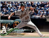 (15) Daniel Gossett 2018 Topps Update BASE CARD LOT (x15) Athletics Rookie US283