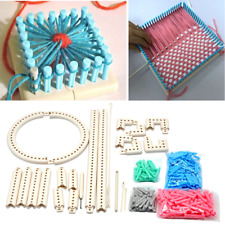 Adjustable Knit & Weave Loom Kit Portable Diy Craft Knitting Weave Board 30+pcs