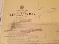 Genuine 70s Vintage Nautical Chart Queensland Cleveland Bay Australia