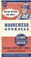 VINTAGE 1930s MOOREWEAR CONE DEEPTONE DENIM OVERALLS ADVERTISING BROCHURE!