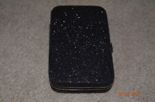 I PHONE 4 BLACK SPARKLY CLUTCH W/CREDIT CARD HOLDER - NEW