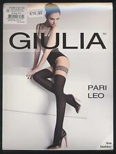 NEUF COLLANT FANTAISIE GIULIA LEO 60 DEN TAILLE 4 = L NOIR / CHAIR SEXY TIGHTS