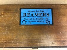 Chadwick Amp Trefethen Inc Vintage Critchley 8 Piece Set Angle Reamers