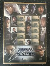 X-MEN UNITED STAMP SHEET.ONLY 2500 SHEETS PRINTED.