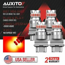 4x AUXITO 3157 3156 Canbus Red LED Brake Tail Stop Signal Light Bulb Error Free