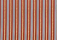 Robert Allen Fabric Rust Gold Blue Beige Striped Cotton Drapery Upholstery