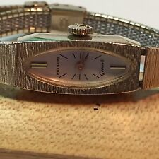 Ladies Gold Tone Hand Winding Mechanical Wittnauer Geneve Adjustable Band