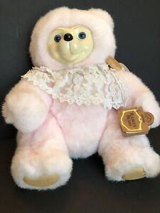 "Robert Raikes Bears Pink Cameo BXX 4838/5000 White Wood Face & Feet 13"" Jointed"
