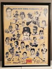 1978 New York Yankees Poster Team-Signed by Reggie Jackson, & 26 Others