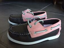 BASS BOAT LOAFERS KIDS LEATHER LACE UP SHOES YOUTH SIZE 12 M 6599-230