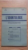 Rivista Mensile - ODONTOLOGIA - 73ème Anno - Gennaio 1952, N° 1