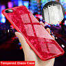 Bling Shockproof Silicone+3D Tempered Glass Case Cover For iPhone 6s X 7 8 Plus