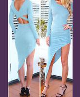 Vestido Mujer Elástica Atractivo Noche Entrecruzamiento Chica Moda Hendedura