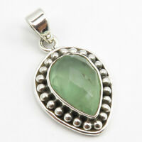 Sterling Silver Drop Facetted Apatite Pendant 3 cm Gift Handmade Jewelry