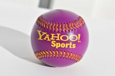 LEATHER PURPLE YAHOO SPORTS BASEBALL EXCELLENT CONDITION
