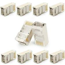 10 X conector RJ45 blindado Cat6 Cable De Red Ethernet STP Modular Plug Crimp