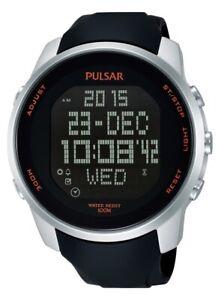 Pulsar Gents Digital Chronograph Rubber Strap Watch PQ2049X1 PNP
