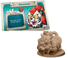 Arcadia Quest: Riders Samson Tiger promo miniature + stat card game night kit Ne