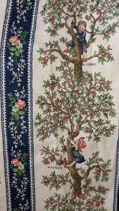 Holly Hobbie Curtain Panels, Vintage 1970s  Scarce, Gunne Sax Print