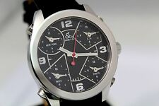 JACOB & CO 5 TIME ZONE JCM2 AUTHENTIC MEN'S 40MM BRAND NEW STAINLESS STEEL WATCH