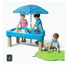 Cascading Cove Sand And Water Table With Cover, Umbrella &6 Piece Accesory Set