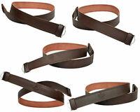 Leather Kilt Belt Adjustable size for Kilts Highland Brown Embossed or Plain